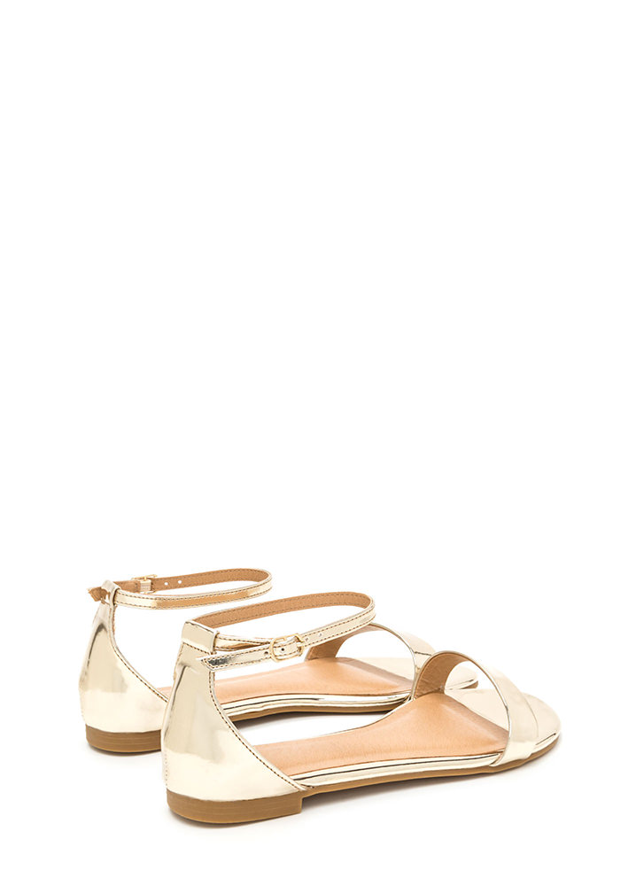 Strappy Feeling Metallic Sandals GOLD