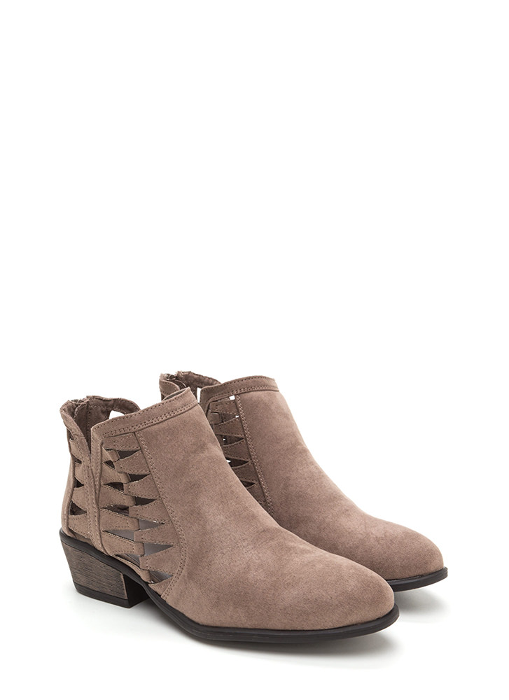 Daily Flow Cut-Out Chunky Booties TAUPE