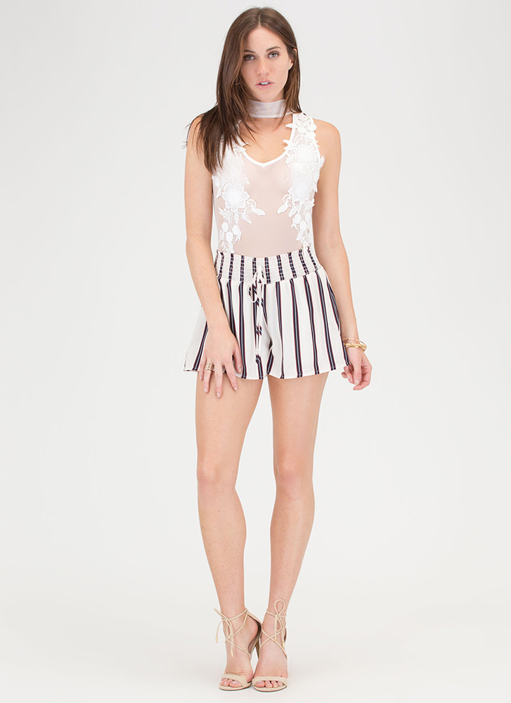 Stripe Now Contrast Shorts OFFWHITE