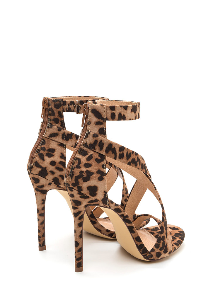 Exclusive Crowd Caged Leopard Heels LEOPARD