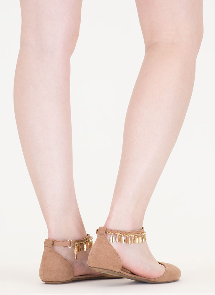 Good Gleam Faux Suede Flats CAMEL