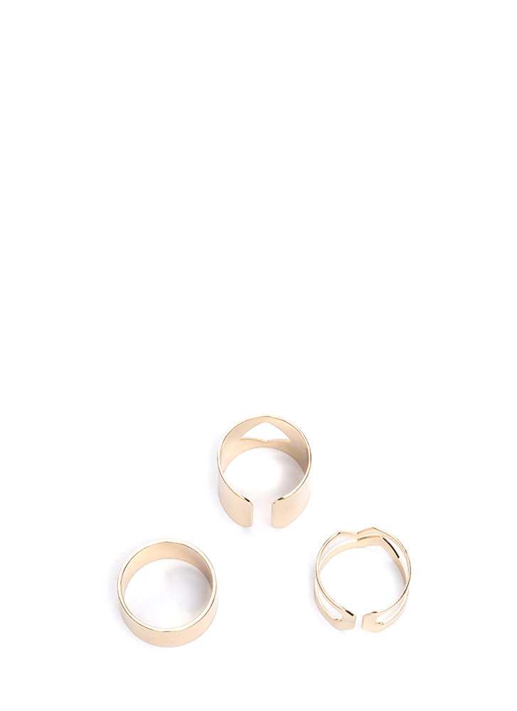 It Factor Cut-Out Ring Set GOLD