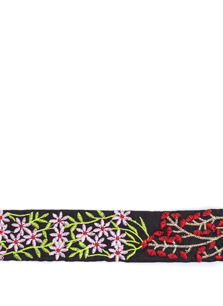 In My Nature Wide Embroidered Choker BLACKMULTI