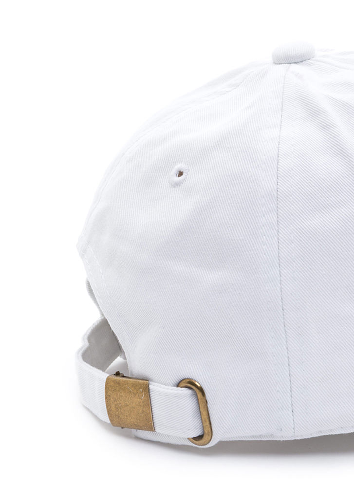 Get Lit Embroidered Baseball Hat WHITE