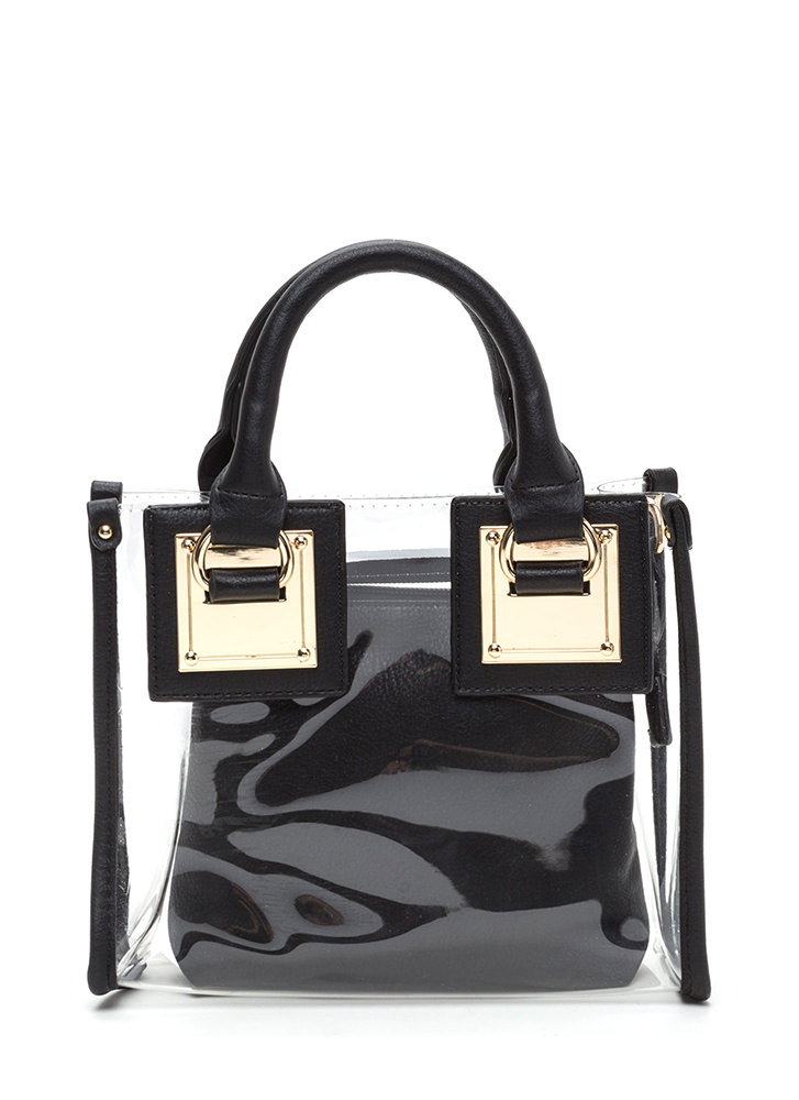 See Clearly Now Square Purse BLACK