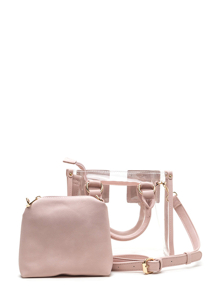 See Clearly Now Square Purse BLUSH
