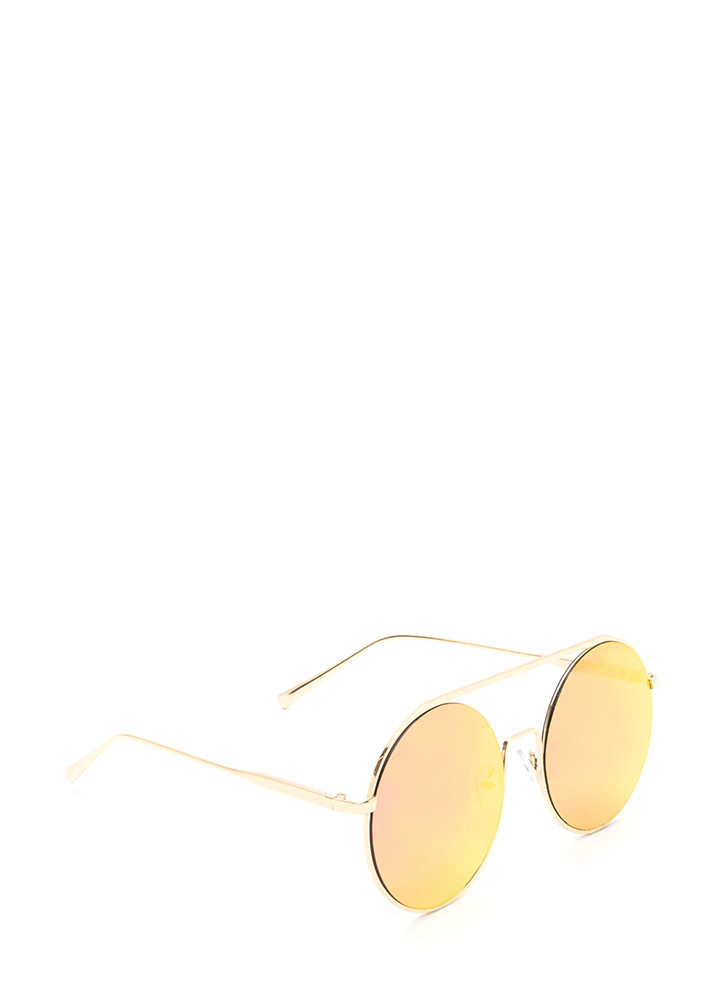 Festival Babe Round Top Bar Sunglasses PINK