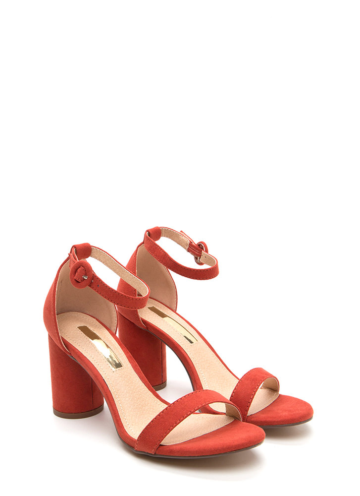 Right This Way Chunky Cylindrical Heels CINNAMON