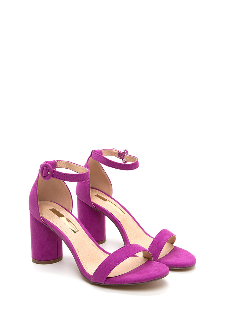 Right This Way Chunky Cylindrical Heels PURPLE
