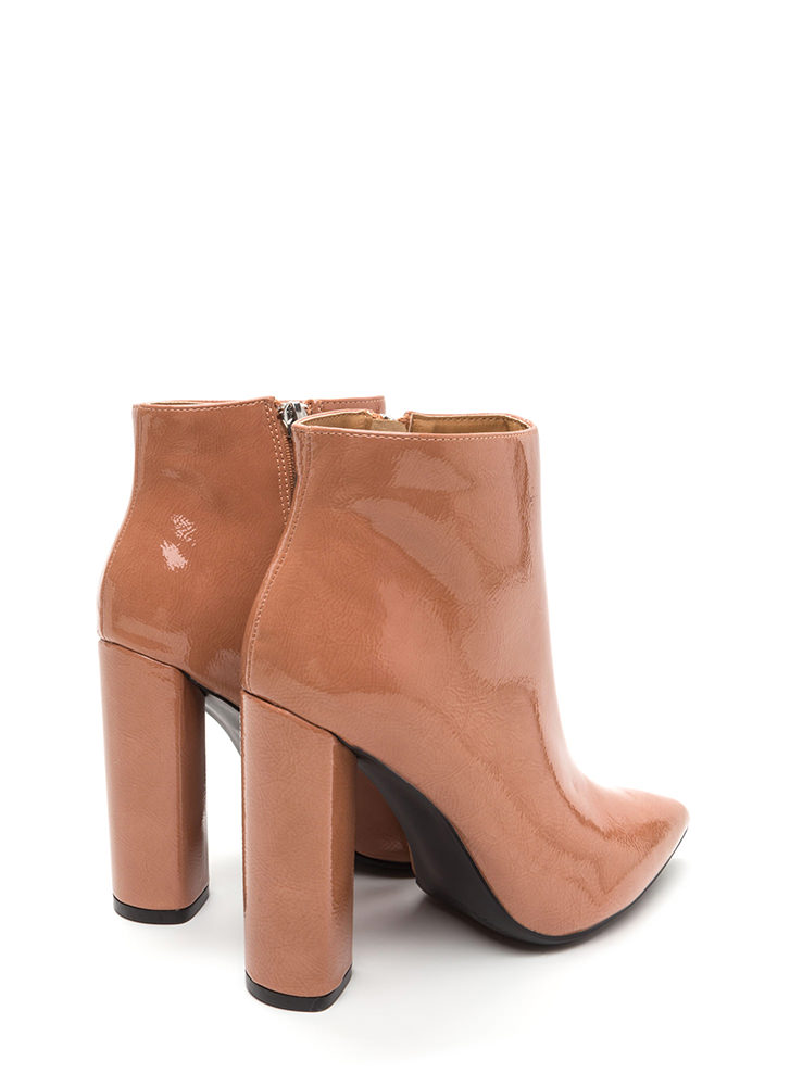 Sleek In Pointy Chunky Booties MAUVE
