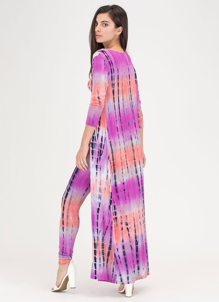 Color And Flow Three-Piece Tie-Dye Set CORALMULTI