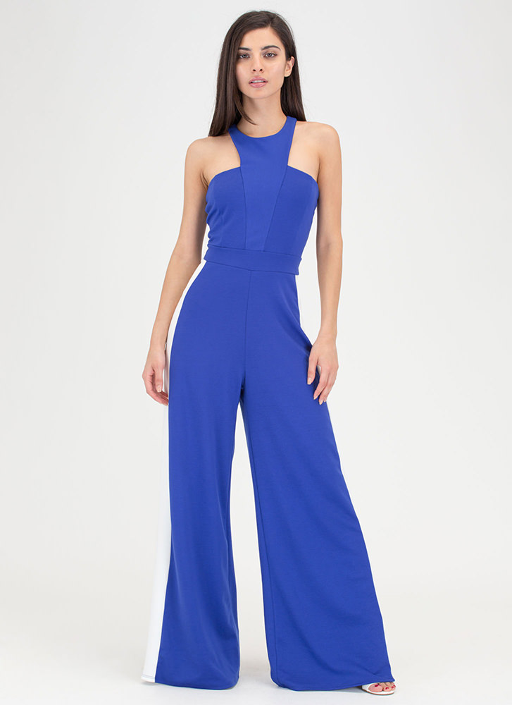 Racer To The Finish Palazzo Jumpsuit ROYALIVORY