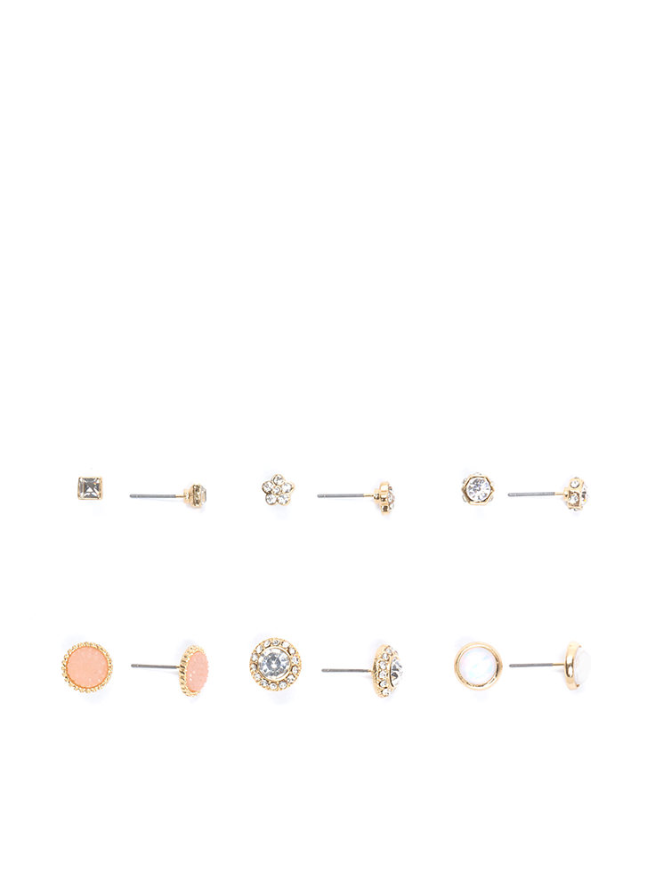 In For A Treat Glitzy Earring Set GOLD