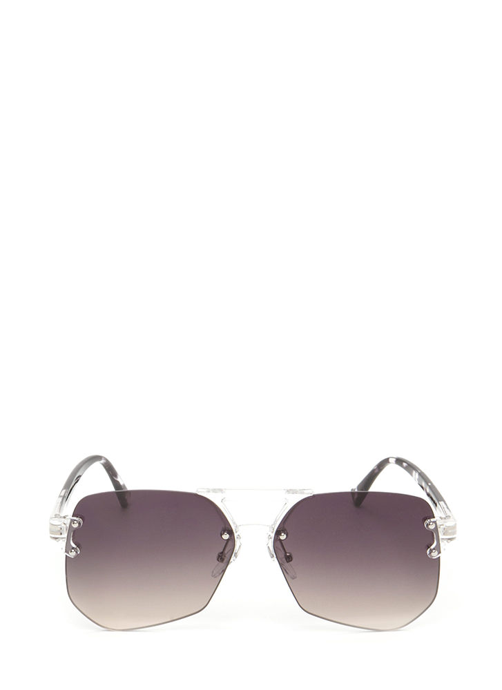 Cleared For Takeoff Ombre Sunglasses BLACK