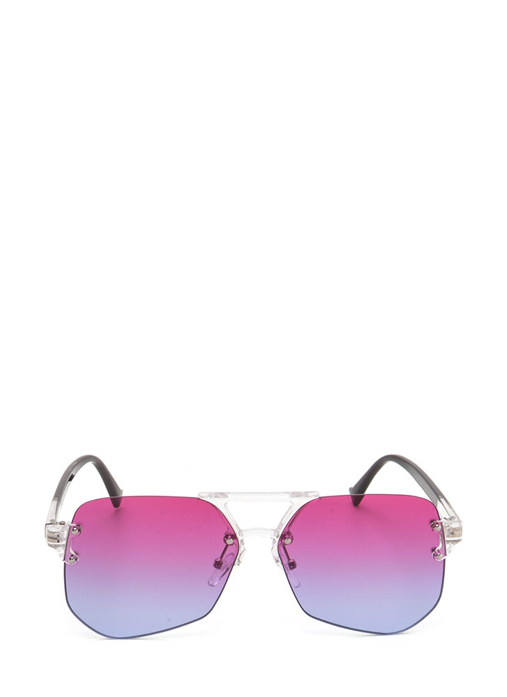 Cleared For Takeoff Ombre Sunglasses PINKBLUE
