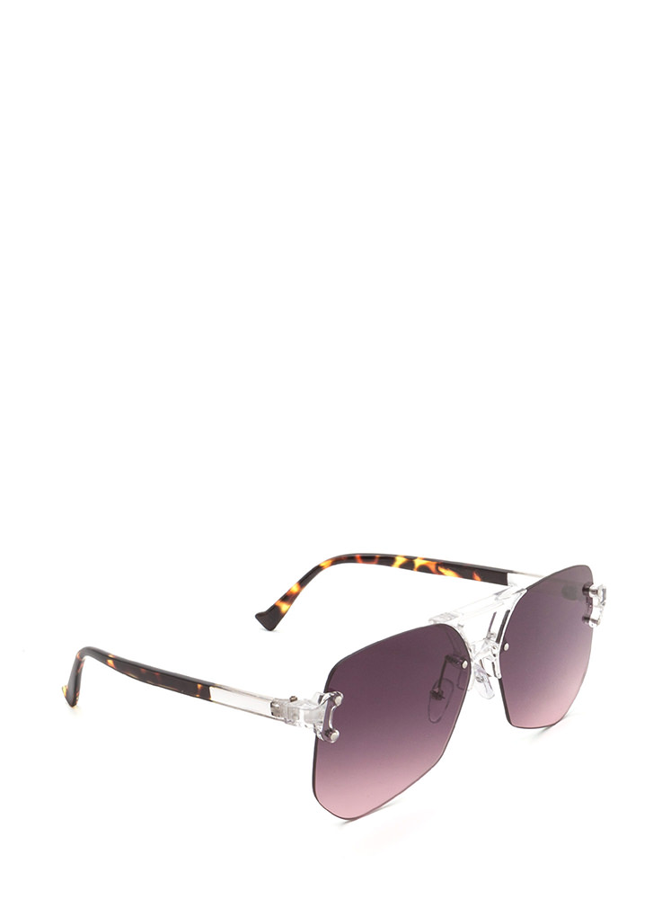 Cleared For Takeoff Ombre Sunglasses PURPLE