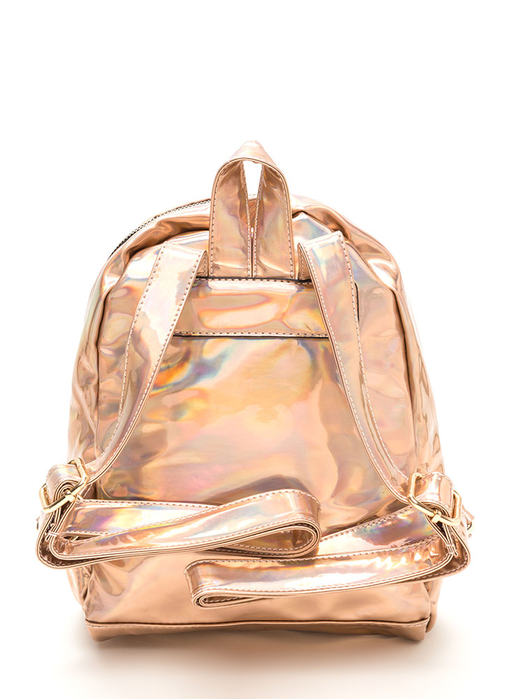 Glitzy Gal Holographic Backpack GOLD