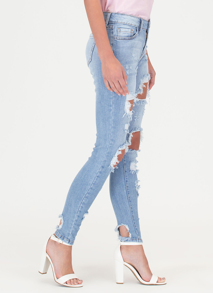 Rip It Good Washed Skinny Jeans LTBLUE