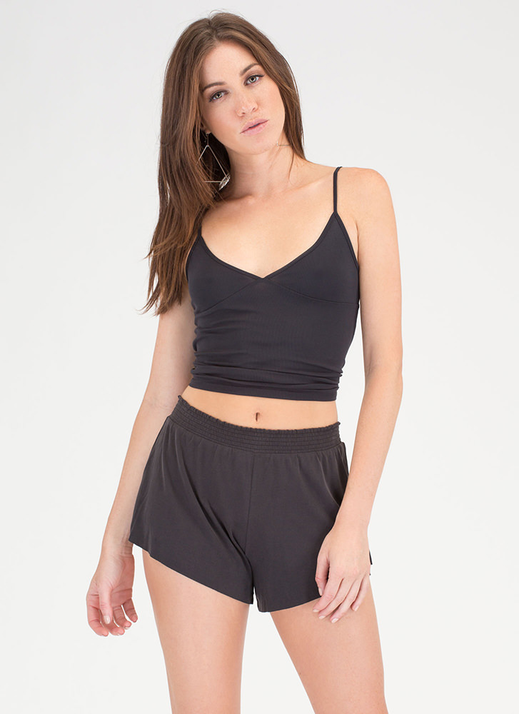 Simply The Best Top 'N Shorts Set BLACK