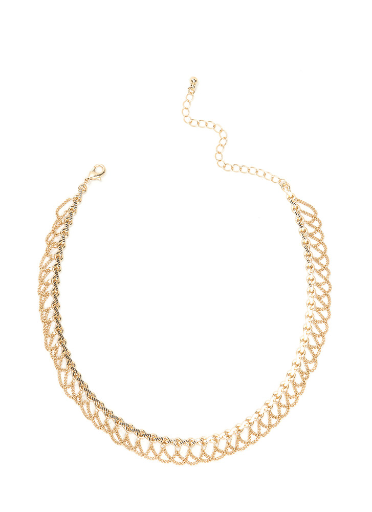 Chain-ge In Attitude Draped Chain Choker GOLD