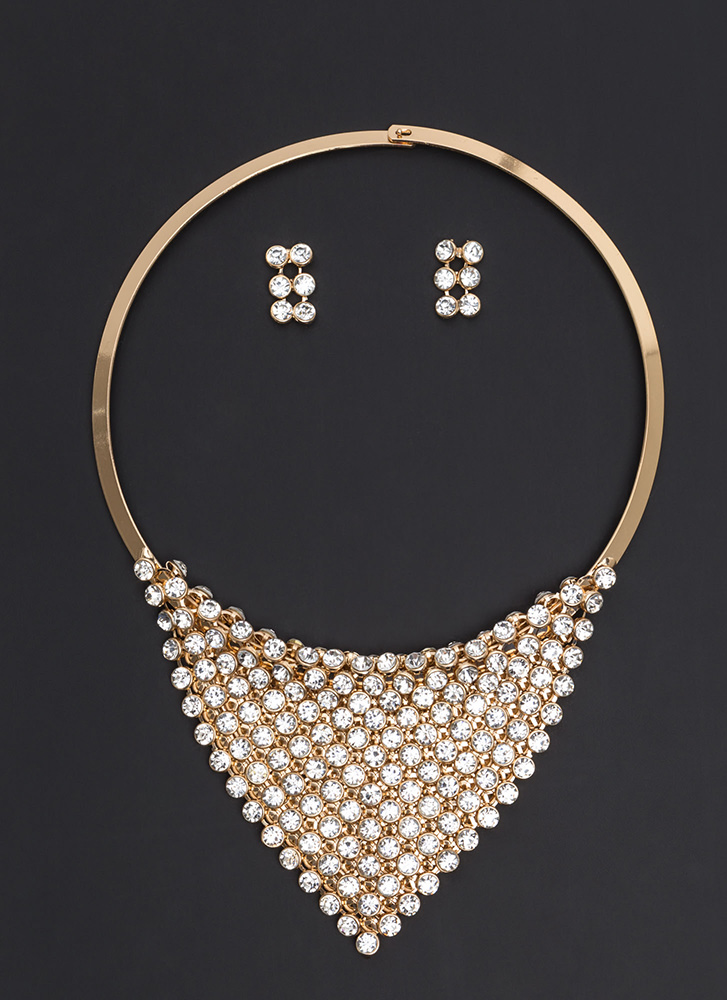 Plate Tectonics Collar Necklace Set GOLD