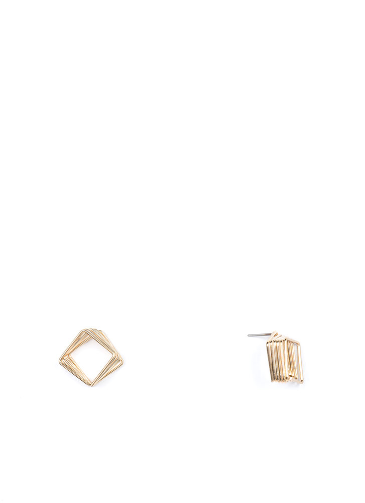 Spring In Your Square Wire Earrings GOLD
