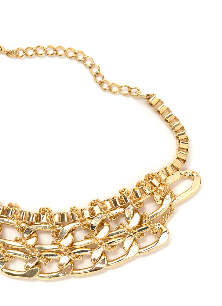 Chain Chain Chain Wrapped Bracelet GOLD