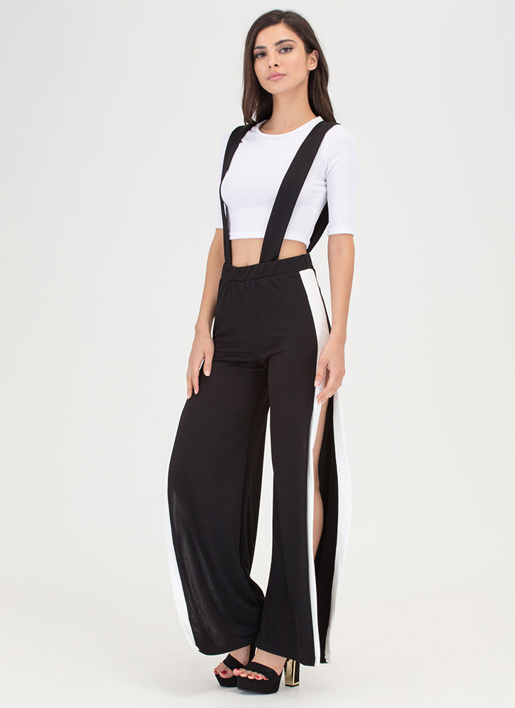 Suspend A Decision Top 'N Pants Set BLACK