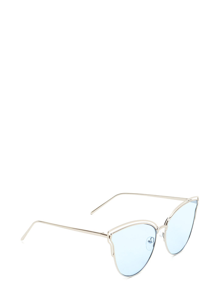Sunny Disposition Cut-Out Sunglasses BLUE