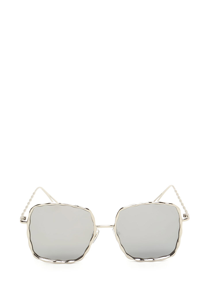 Squared Away Textured Sunglasses SILVER