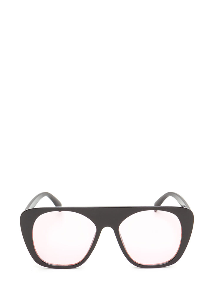 Cool Cat Tinted Retro Sunglasses PINK