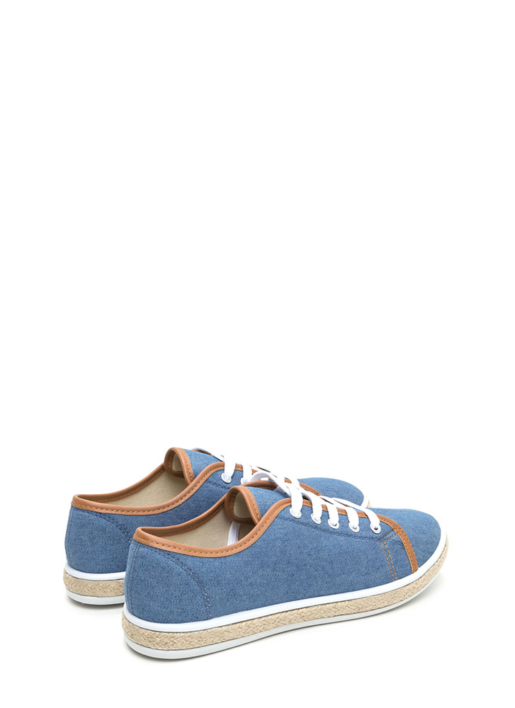 Vacay Bound Denim Espadrille Sneakers BLUE