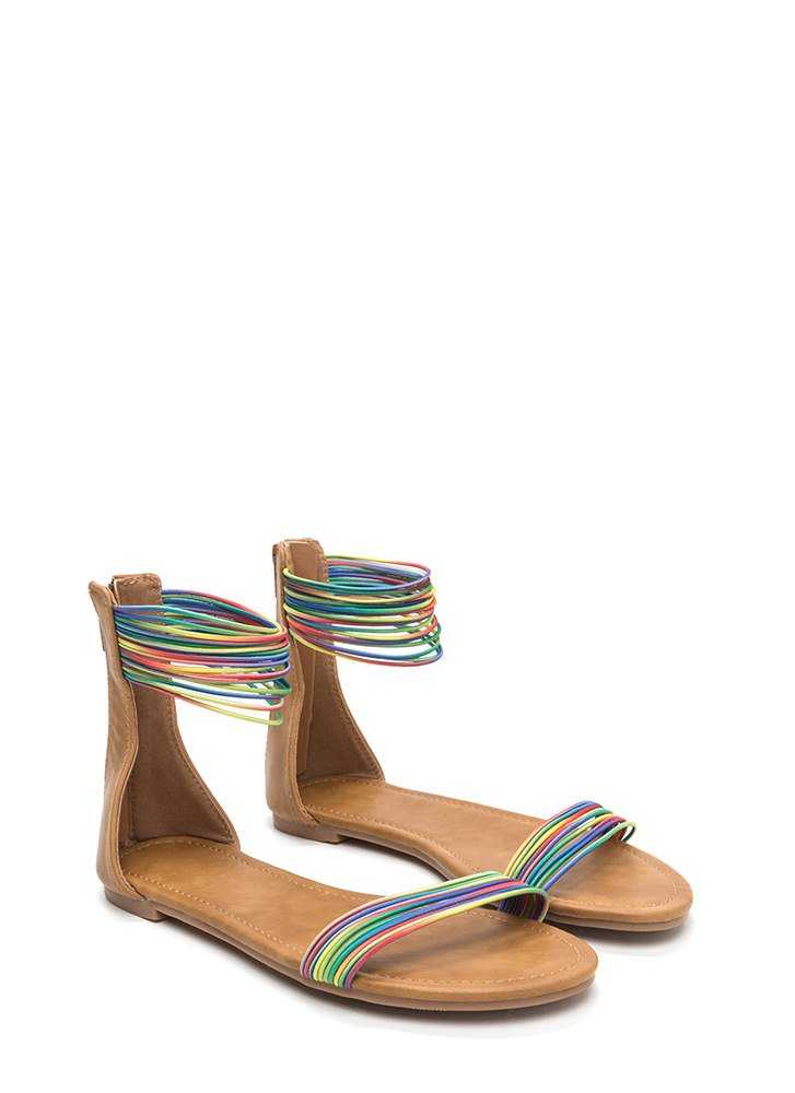 Power Cords Rainbow Strap Sandals RAINBOW