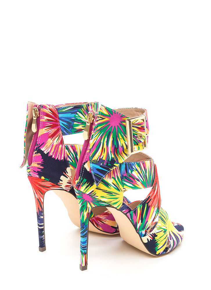 Baby You're A Firework Strappy Heels MULTI