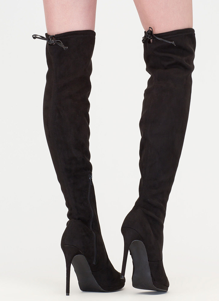 Made For Walking Thigh-High Boots BLACK