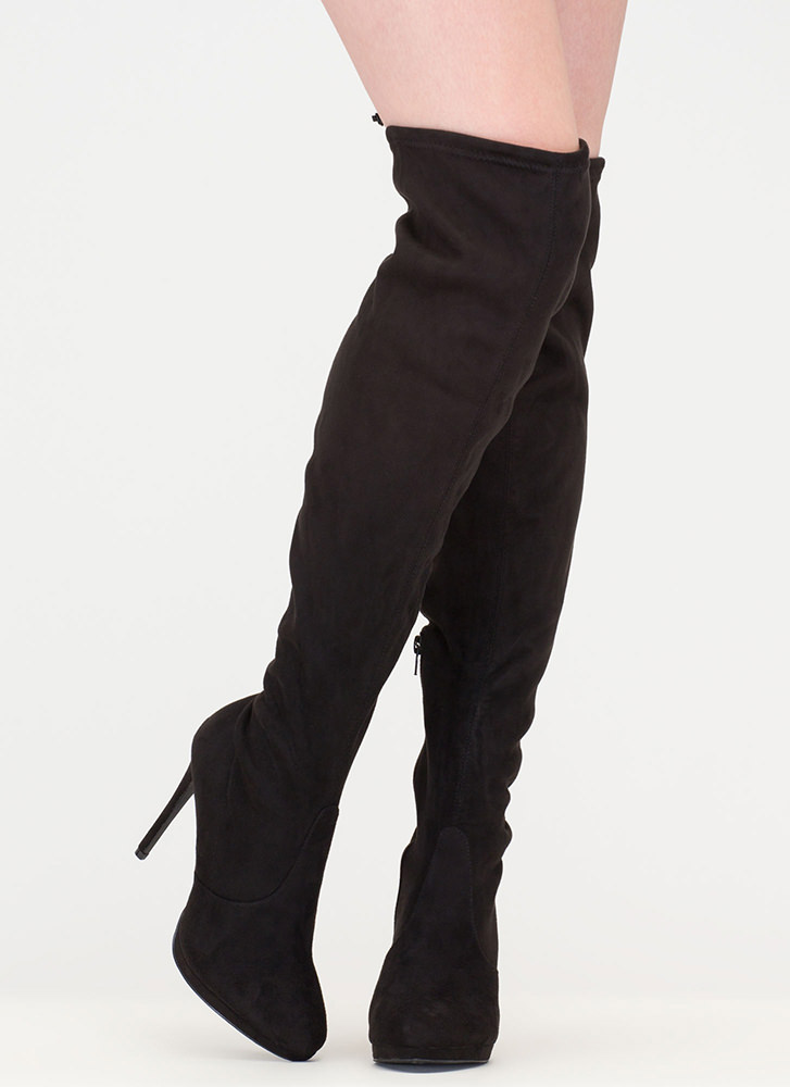 made for walking thigh high boots taupe black gojane