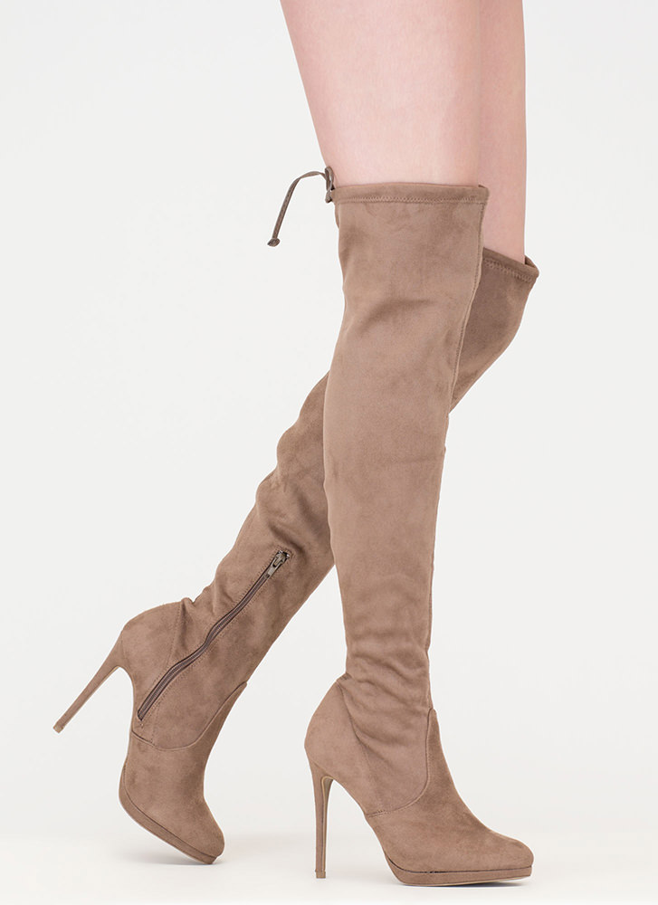 made for walking thigh high boots black taupe gojane