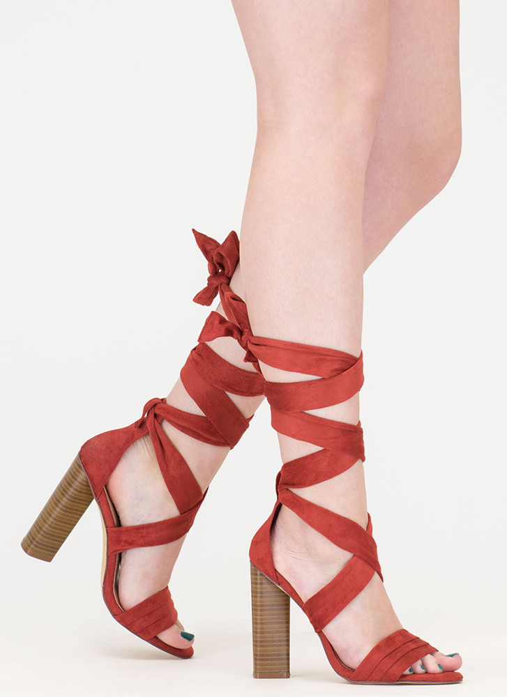 Chic Muse Tied Gladiator Sandals CINNAMON