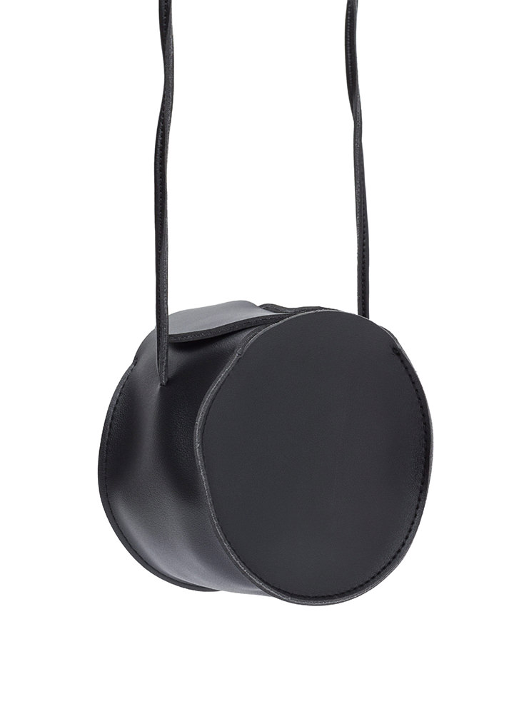 Circle Of Life Faux Leather Bag BLACK