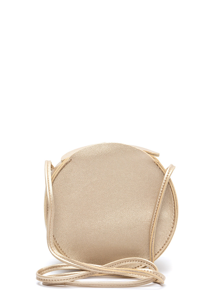 Circle Of Life Faux Leather Bag GOLD