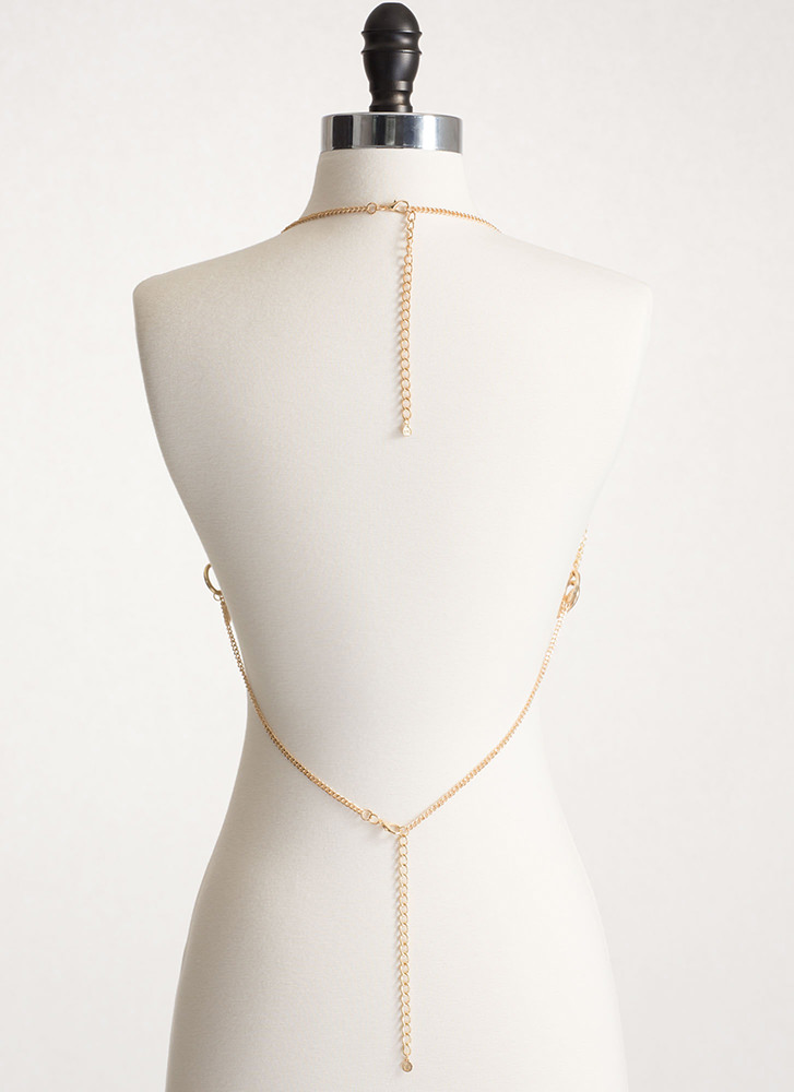 Ring Leader Bralette Body Chain GOLD