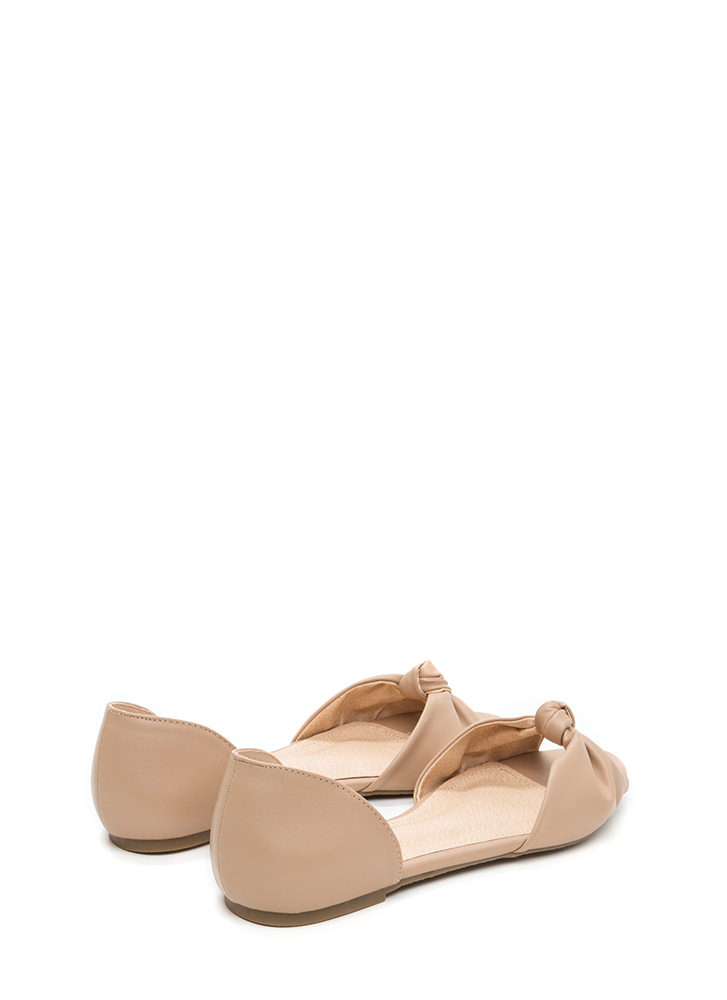 Knotty By Nature Metallic Flats NUDE