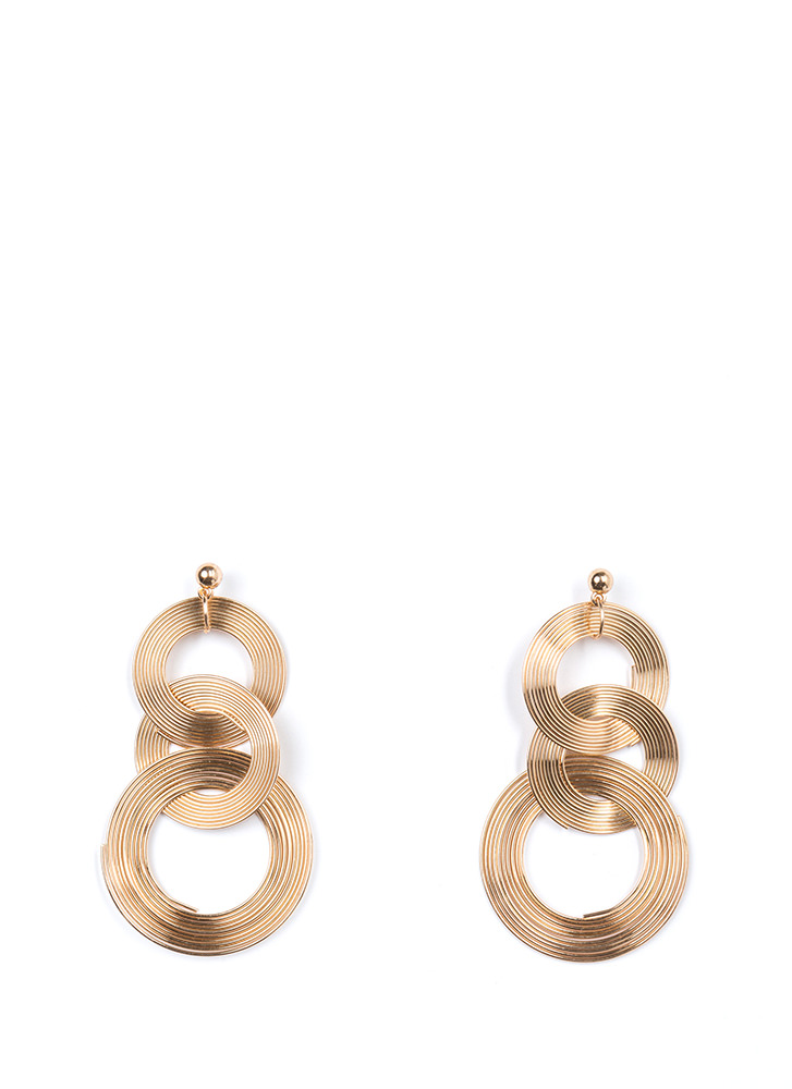 Down To The Wire Interlocked Earrings GOLD