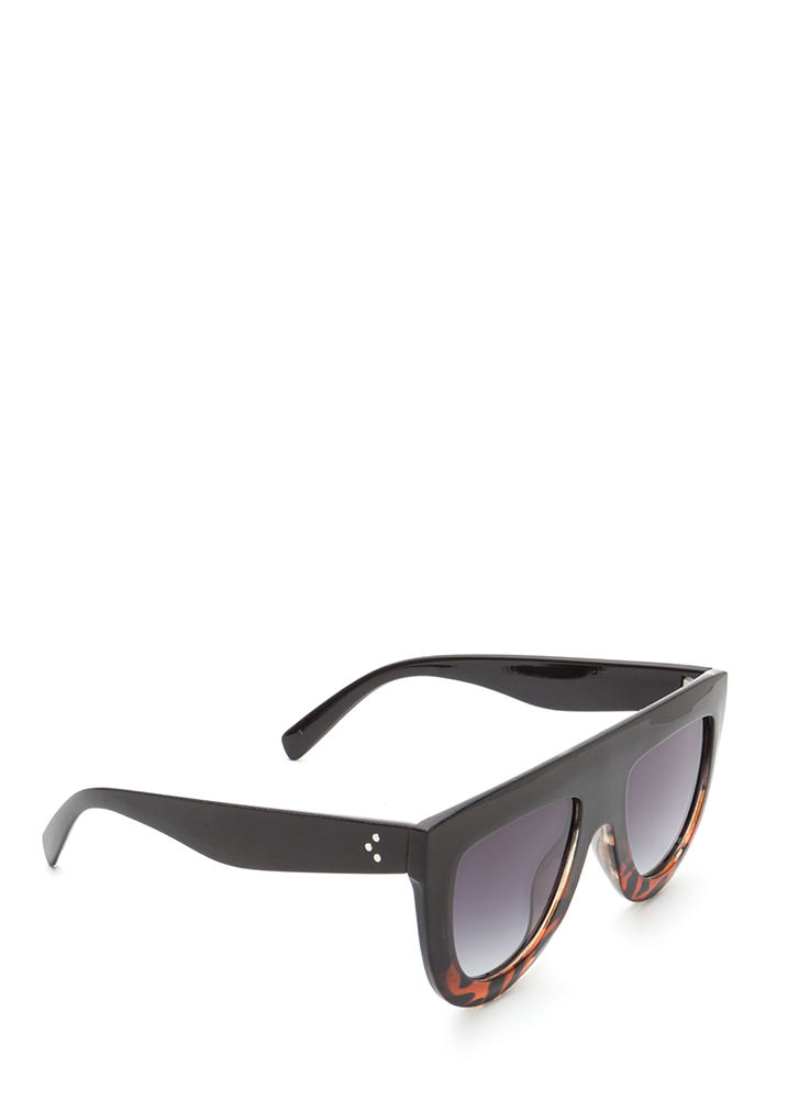 Sun Worshipper Flat-Top Sunglasses BLACKBROWN