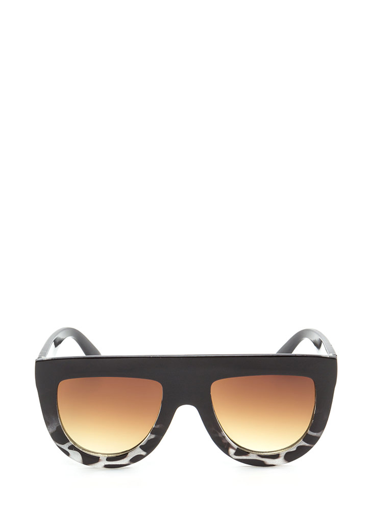 Sun Worshipper Flat-Top Sunglasses BLACKGREY