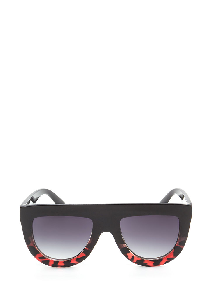 Sun Worshipper Flat-Top Sunglasses BLACKRED