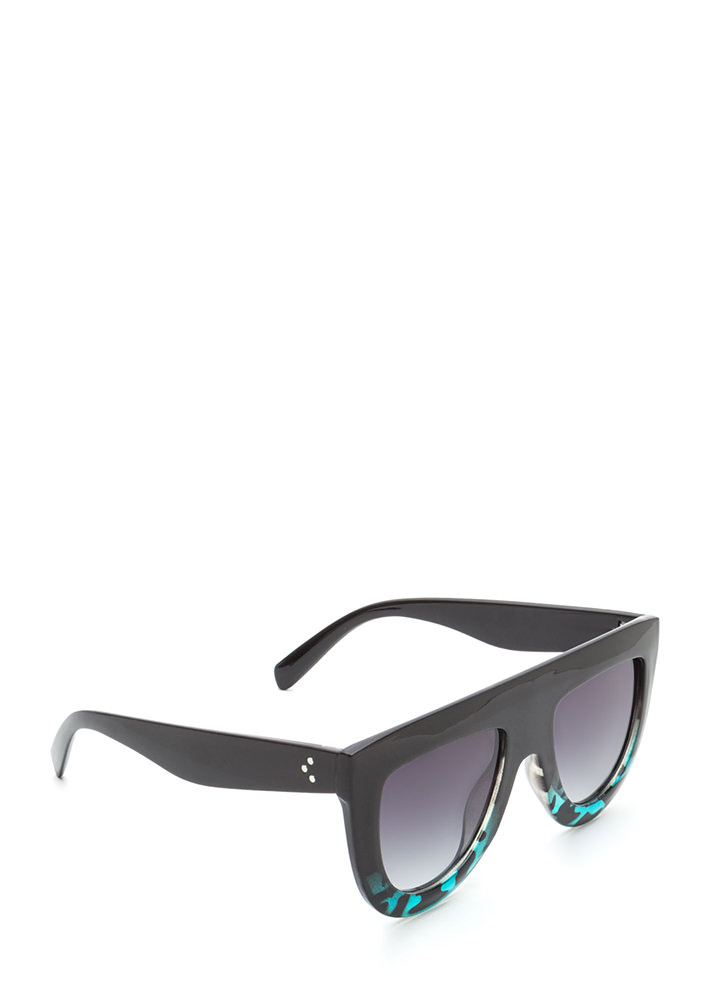 Sun Worshipper Flat-Top Sunglasses BLACKTURQ