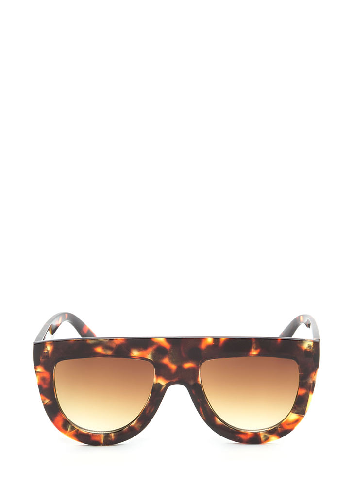 Sun Worshipper Flat-Top Sunglasses BROWNBROWN