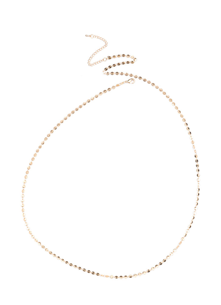 Middle Ground Paillette Belly Chain GOLD