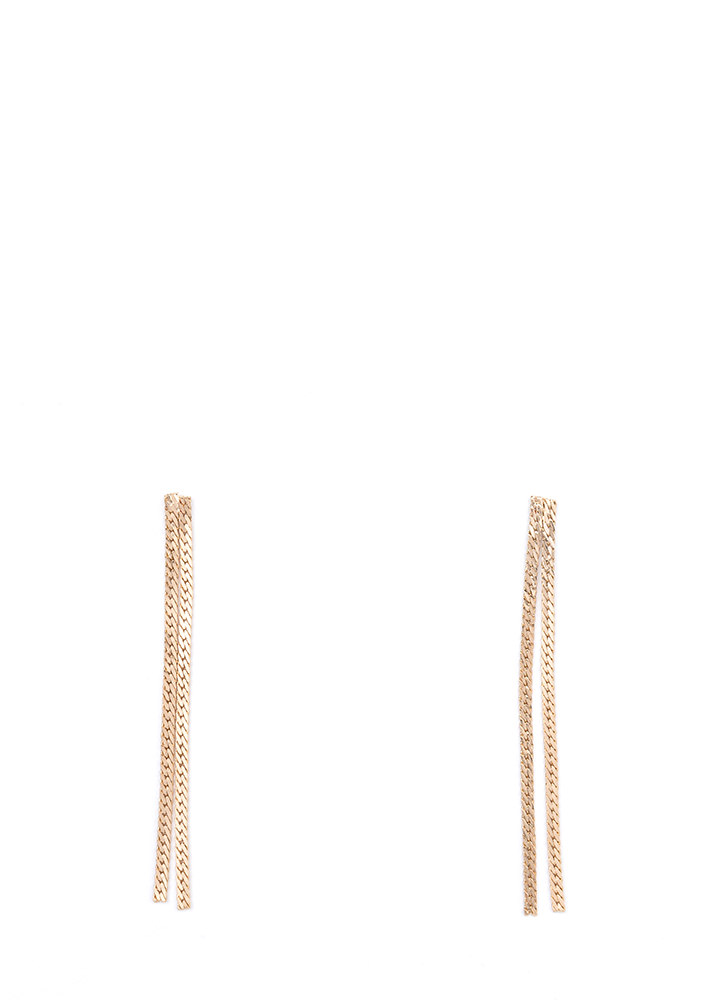 For A Chain-ge Skinny Earrings GOLD
